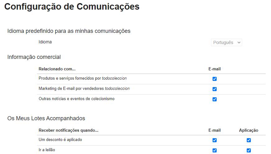 Configuração de comunicações