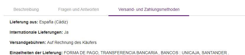 Versand- und Zahlungsmethoden